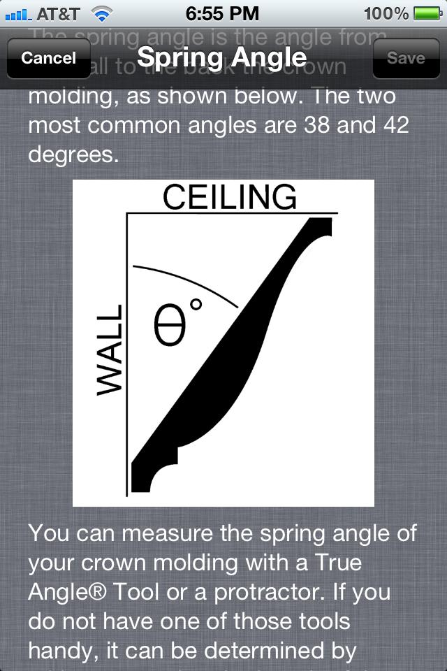 Crown Molding App Spring Angle Input Screen By Starfirelp On Deviantart