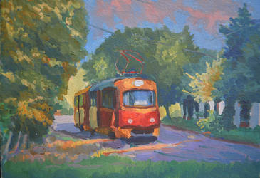 Evening tram by Ragini123