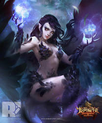 The Chronicles of Dragon Wing: Black Sorceress. by mushroomtale