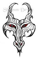 Tattoo Design-Dragon Face by ShadyMeadows