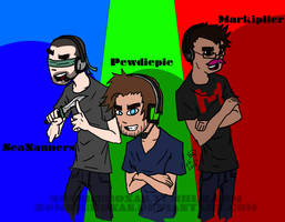 Nanners Pewds and Mark by ZombieRoxas