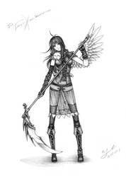 Birthday sketch: FenriXion by Wen-M