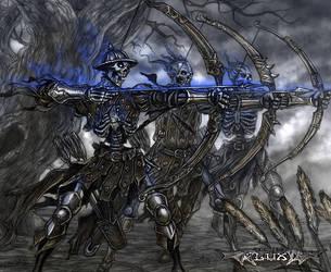 Luminous Echo: Skeleton archers by Wen-M