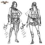 Rosgladia: Antheia sketch 1 by Wen-M