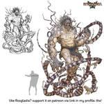 Rosgladia: Snake legged giant 1 by Wen-M
