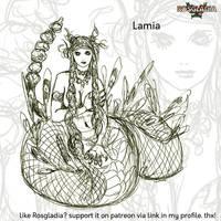 Rosgladia: Lamia sketch by Wen-M