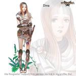 Rosgladia: Dina colored by Wen-M