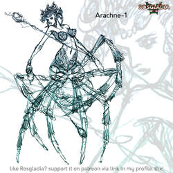 Rosgladia: Arachne sketch by Wen-M