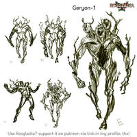 Rosgladia: Geryon sketches by Wen-M