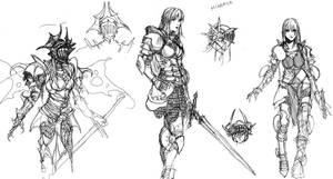 sketches of Minerva by Wen-M
