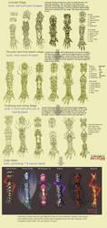 Battle gloves Progress by Wen-M