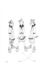 triplets lineart by Wen-M