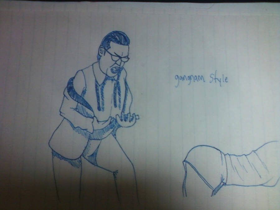 Gangnam style paper drawing — 1