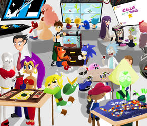 Random Chars. 4: Game Night! by Scarlet-Ajani