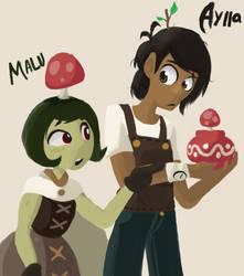 Aylla and Malu: Art-Trade by Scarlet-Ajani