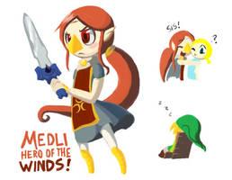 Medli: Hero of the Winds by Scarlet-Ajani