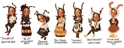 Jazz Honeydew's Many Outfits by Scarlet-Ajani