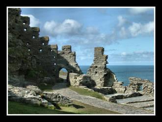 Tintagel Castle by Pjharps