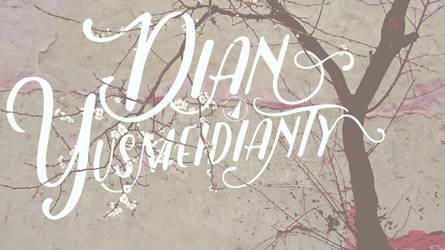 Friends name Typography 1 -  Dian Yusmei by JatZio