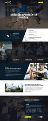 Sportcenter Cologne Webdesign by crYpeDesign