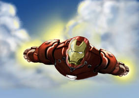 The Invincible Iron Man by SIDEBOARD