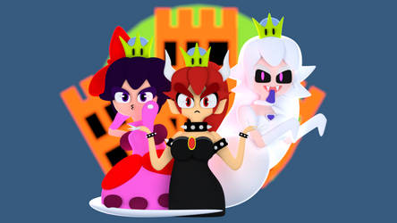 Bowsette and the Crew by Toony-3D