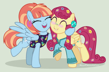 BFF (Windy Whistles and Mrs. Shy). by Heera29