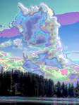Lake Wilderness Clouds - Enamel by infin8yquest
