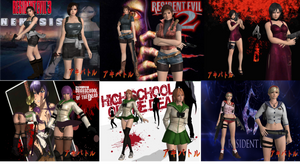DOA5LR Halloween Pack By SSPD077 (Updated) by SSPD077