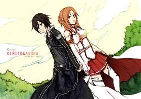 Chizzachan's Kirito and Asuna by satanX15