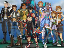 Voltron: Xenoblade Chronicles Cast by RoseThornArt