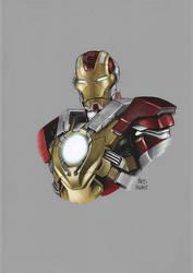 Bust Series: Iron man Mark 17 aka Heartbreaker by kris-knave