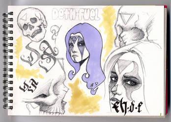 Sketchbook page by kris-knave