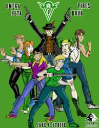 Omega Virus: Beta Hour (comic cover v1) by JakeAStrife