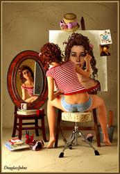 Triple Self Portrait by DouglassJohns