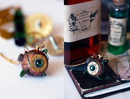 'Willow'  Steampunk pendant by Catarios