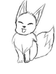 EEVEE sketch by KitsunePhantasm