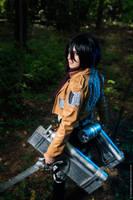 SnK Mikasa by MayWolf23
