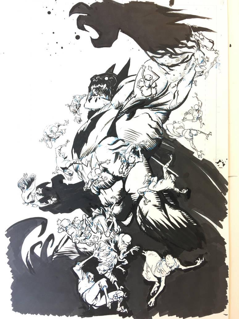 Batman by Greg Capullo, inks by me. by dustinspagnola