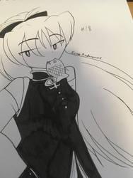 Inktober #18 - Kyoko Sakura by Eveart13