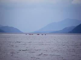 Canoes on Loch Ness by DanaVarahi