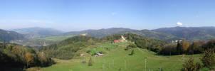 Panorama from Palenica 2 by DanaVarahi