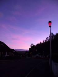 Balnafettack Crescent  at dusk. by DanaVarahi