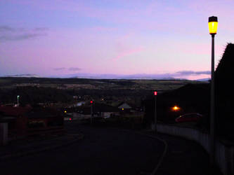 Balnafettack Crescent  at dusk 2 by DanaVarahi