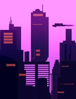 Fuchsia Cyber City by Spoldier