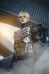 Genos cosplay V2 from One Punch Man by Exerbrang