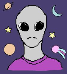 Pixel Alien by pinkjinmayfan