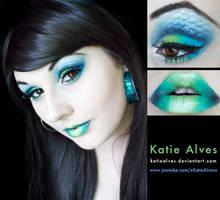 Aqua: Mermaid Inspired Makeup by KatieAlves