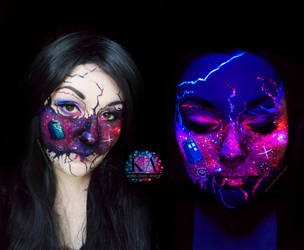 Doctor Who Black Light Makeup by KatieAlves