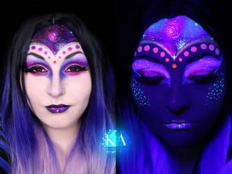 Alien Halloween Makeup w/ Tutorial by KatieAlves